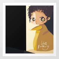 mini Art Prints featuring Mini by Vale Bathory
