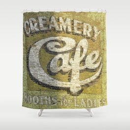 Butte Montana - Creamery Cafe For Ladies Shower Curtain