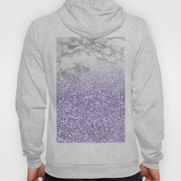 She Sparkles - Violet Purple Glitter Marble Hoody