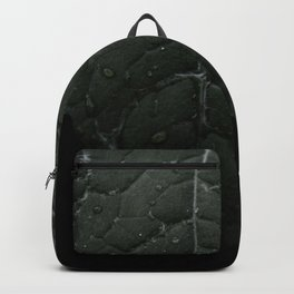 Botanical Still Life Photography Drops On Leaf Backpack