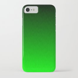 Black to green ombre flame iPhone Case