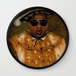 Jay in Shades Wall Clock