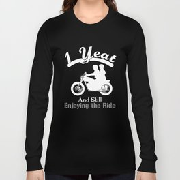 1st Wedding Anniversary Couple Ride Gift Shirts Celebration Long Sleeve T-shirt