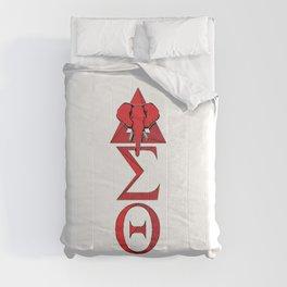 Elephant Delta Triangle Sigma Red Theta Comforters