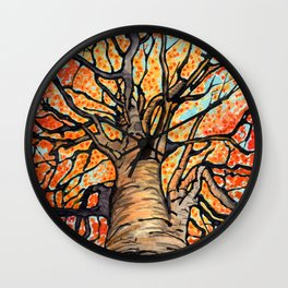 Fall Flush Wall Clock