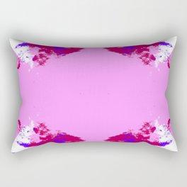 Donamo - Abstract Pink Purple Batik Camouflage Tie-Dye Style Butterfly Rectangular Pillow