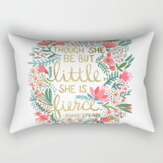 Little & Fierce Rectangular Pillow