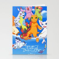 digimon Stationery Cards featuring Digimon Tri by Kazenishi