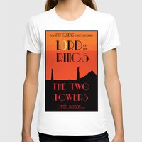 lotr T-shirts featuring LOTR The Two Towers Minimalist Poster by Sean Breeding Arthouse
