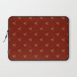 Gold Ek Onkar / Ik Onkar pattern on red Laptop Sleeve