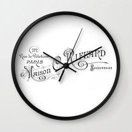 Maison Typography Wall Clock