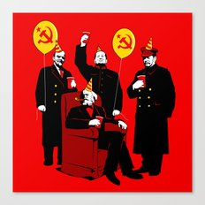 Communist Party II: The Communing Canvas Print