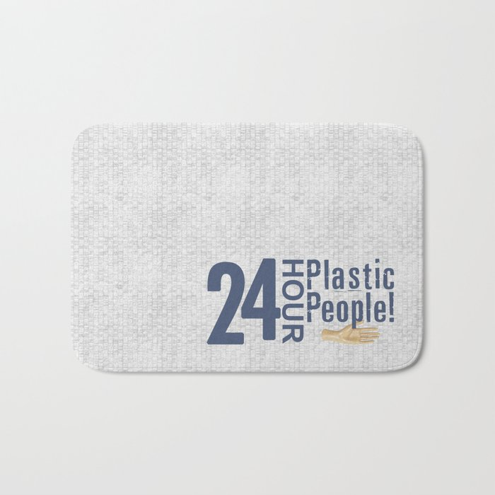 24 Hour Plastic People Bath Mat