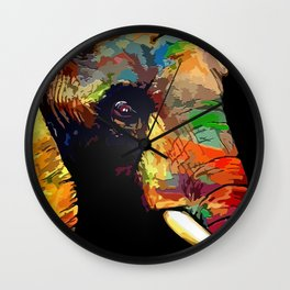elephant face Wall Clock