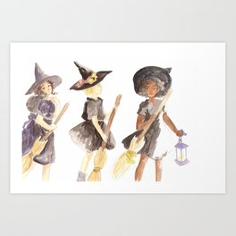 Three Witches Art Print