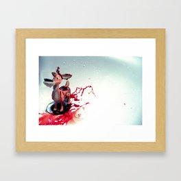 Animal Blood Framed Art Print