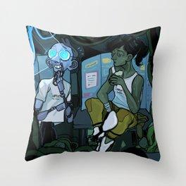 wheatley n chell Throw Pillow