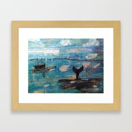 Risky Waters Framed Art Print