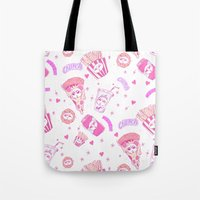 junk food Tote Bags featuring JUNK by bb0t