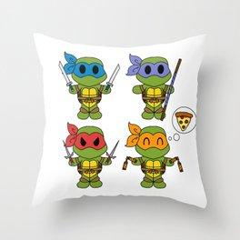 TMNT Chibis Throw Pillow