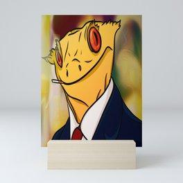 Salaryman Gecko Mini Art Print