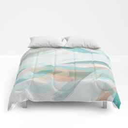 Big Abstract Paint Brush Strokes and Graphic Plaster Patterns Comforters