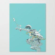 Seafoam Astronaut Canvas Print