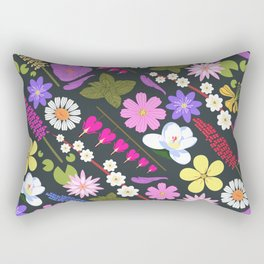 Flowers and mint Rectangular Pillow