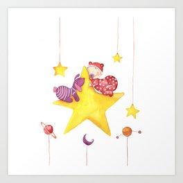 Baby star Art Print