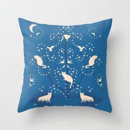 twilight tomcats Throw Pillow