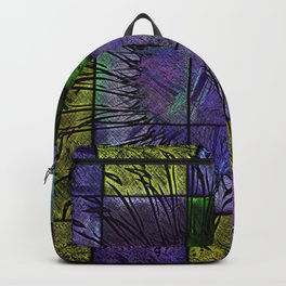 Purple stained glass Backpack