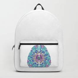 Human Anatomy Brain Psychedelic Gift Trippy Surreal Colorful Backpack