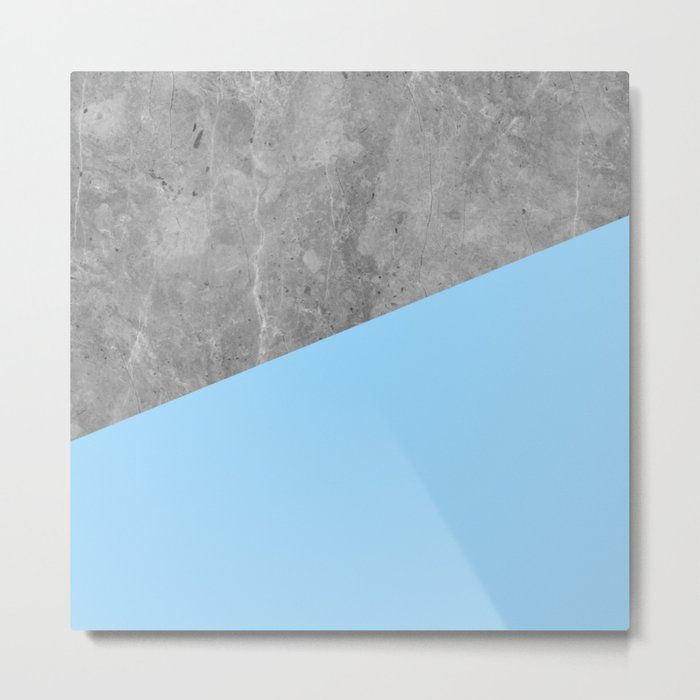Geometry 101 Blue Raspberry Metal Print