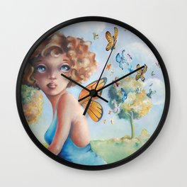 Amelia, Courage to Fly Wall Clock