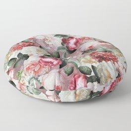 Vintage & Shabby Chic - Jan Davidsz. de Heem Roses On Mauve Floor Pillow