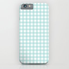 Sea Blue Gingham iPhone Case