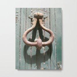 CHINON DOOR Metal Print
