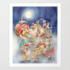 The 12 Dancing Princesses Art Print