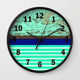 Marble, Teal and Navy Vignette Wall Clock