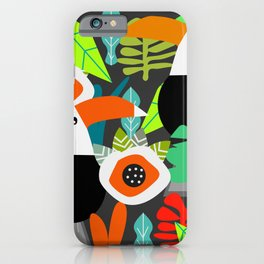 Tropical vibe with toucans iPhone Case