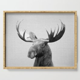 Moose - Black & White Serving Tray