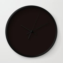 Licorice - solid color Wall Clock