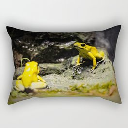 Golden Dart Frog Rectangular Pillow