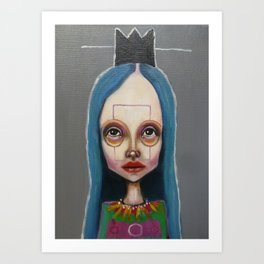black crown Art Print