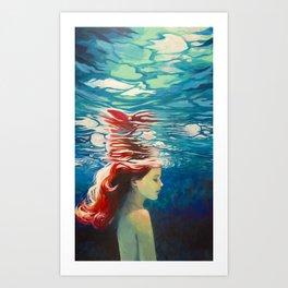 Underwater Ariel Art Print