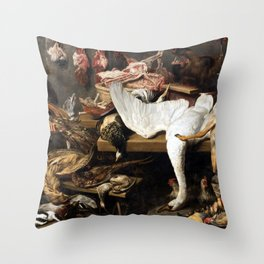 Franz Snyder A Game Stall Throw Pillow