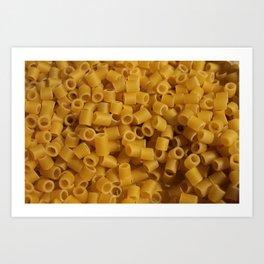 Tiny pasta pattern background texture Art Print