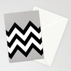 GRAY COLORBLOCK CHEVRON Stationery Cards