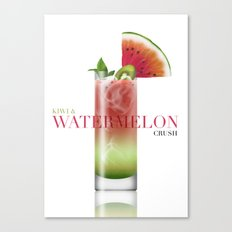 Kiwi and Watermelon crush Canvas Print