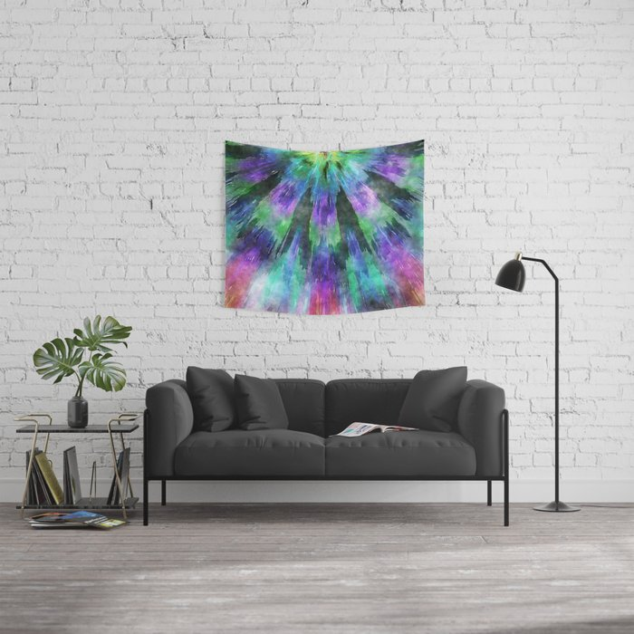 Colorful Tie Dye Watercolor Wall Tapestry